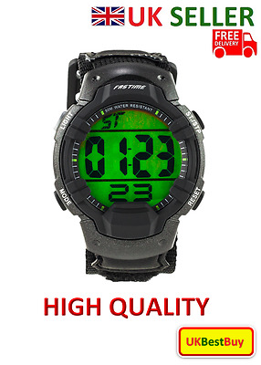 Digital Sports Wristwatch SW3 / Sportswatch with Extra Large Display - UK SELLER