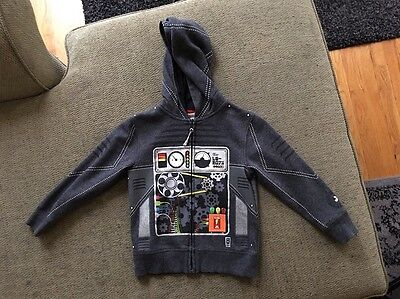 H&M  Hoodie For Toddler Boys - Size: 2-4 - Dark Gray- Cotton Blend
