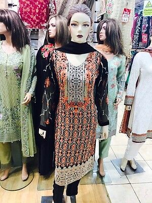 Indian Pakistani Shalwar Kameez Anarkali Designer Partywear Semi formal chiffon.