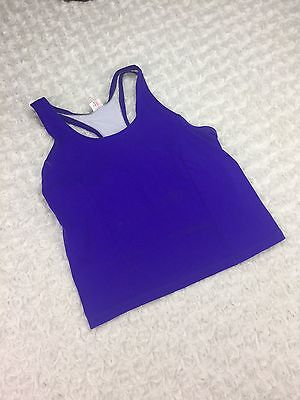 Pearl Izumi Athletic Cycling Tank Top Blue White Workout Running Womens Size 10
