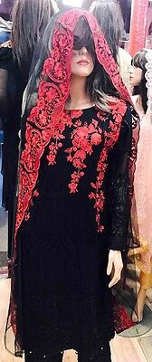 Indian Pakistani Shalwar Kameez Anarkali Wedding Partywear Chiffon Fancy