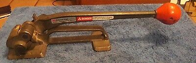 """Signode Model T USA Steel Strapping Tensioner Tool Size 5/8 """" inch - 3/4 """" inch"""