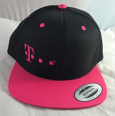 NEW T Mobile Adjustable Snapback Pink Black Hat Cap