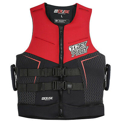 Jet Pilot Cause JA5217 Water Ski Vest Life Jacket RED S