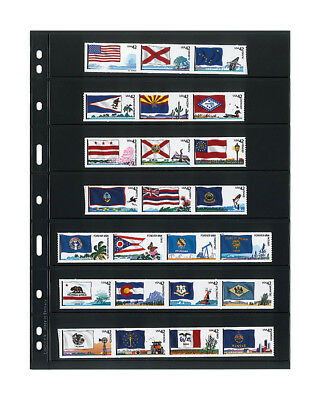 UNIPLATE Stock Sheets - Black - 7 stripes - 5 Sheets/Pack