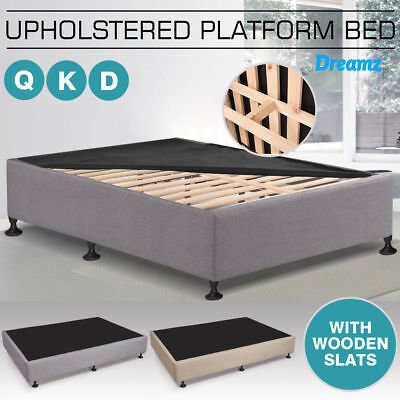 NEW Double Queen King Size Luxury Ensemble Mattress Bed Base Slat Frame Support