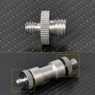 "1/4"" to 3/8"" Male Threaded Screw Adapter for Camera Flash Tripod Ballhead"