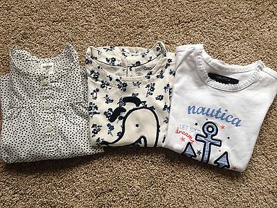 EUC Toddler Girl's 3 Tops, OshKosh, Baby Gap, Nautica Size 2T