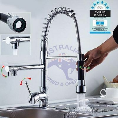AU deck mount Swivel Pull Down Spray Kitchen Basin Sink Faucet Mixer Tap Chrome