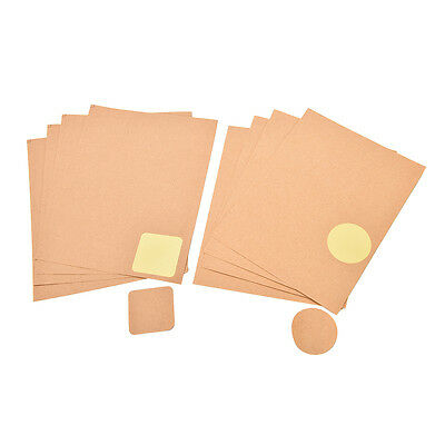 4 Sheets Kraft Scalloped Round Stickers Blank Wedding Favours Labels Rustic SD