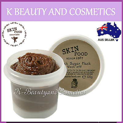 [Skinfood] Black Sugar Wash Off Mask 100g Exfoliating Scrub Revitalise Skin Food