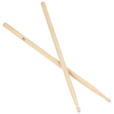 1 Pair 7A Useful Maple Wood Drum Sticks Drumsticks Music Band Accessories LI