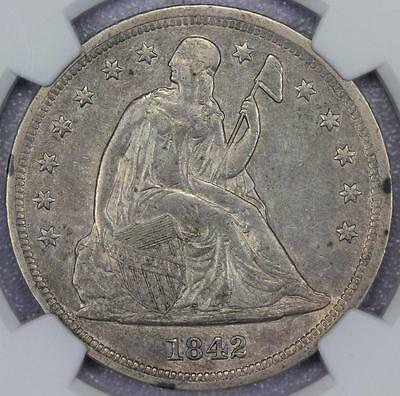 1842 Seated Liberty Dollar NGC XF40 - Gorgeous Type Coin-*DoubleJCoins* - PP1