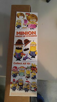 Minions Dress Up stickers from vending machine