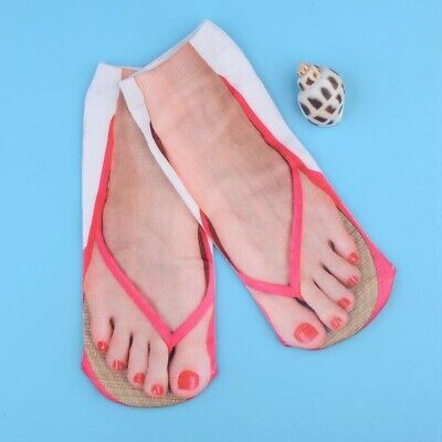 Thong socks with heart nail - 3d sandal purple toe socks - Flip flop novelty