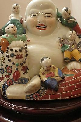 Vintage Chinese Laughing Buddha - Happy Symbolism