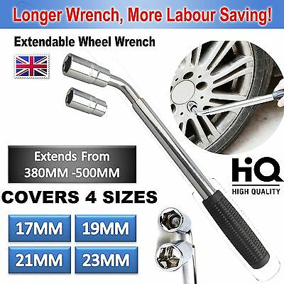 17 19 21 23mm Heavy Duty Van Extendable Wheel Car Brace Socket Tyre Nut Wrench