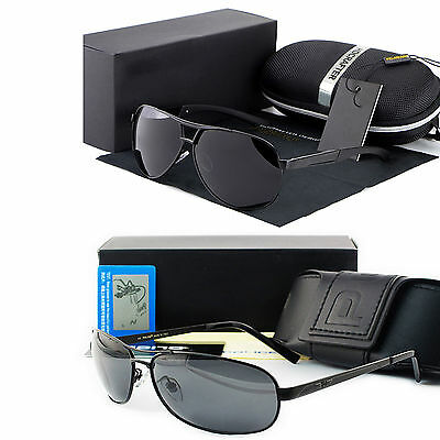 NEW men's polarized Aviator sunglasses Sport Driving glasses Eyewear & Box