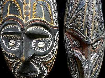 Pair of Old New Guinea Masks - 1970's