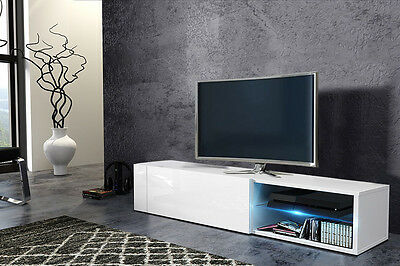 MODEL 2017 RTV HIT 2 Modern TV STAND 100cm LED Cabinet Unit HIGH GLOSS 5 COLOURS
