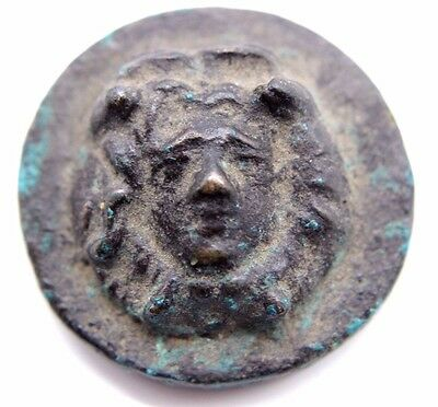 Ancient Roman Bronze Roundel With the Head of Medusa 100-300 AD