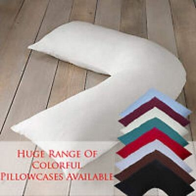 COTTON SATIN  Support V Shaped Orthopaedic/Nursing/Pregnancy Pillow Case