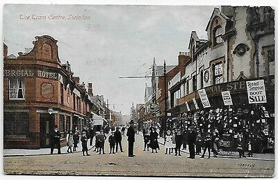 Vintage Postcard.  The Town(?) Centre, Swindon. Used 1920. Ref:74197