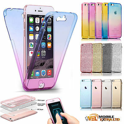Slim Shockproof 360° Front and Back Full Body TPU Silicon Case Cover For Phones