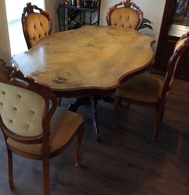French Antique Dining Table Setting