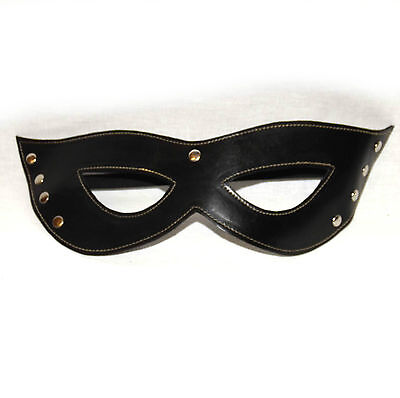 Black Studded Cat Mask,Bondage,Fetish Masquerade Mask- echt Leder  (1612)