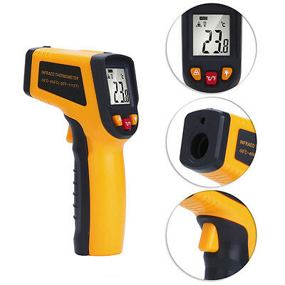 Digital Infrared Thermometer Heat Sensor Tester Non Contact Laser Multi Reader