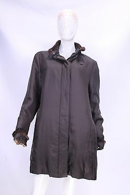 BURBERRY Trench Giubbino Giacca Jacket Cappotto Tg M / L Woman Donna G18 SILK