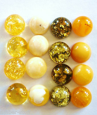 Baltic amber cabochons,8mm,flatback, green, butterscotch, creamy white, natural