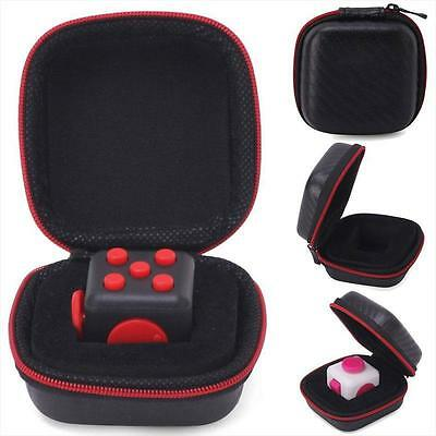 1PCs Carry Case For Relief Figet Cube Reduce Pressure Adults Kids Black+Red