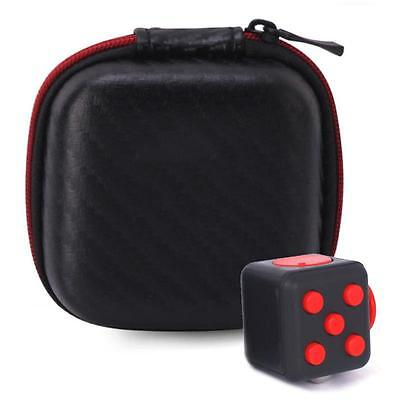 1PCs Carry Case For Relief Figet Cube Reduce Pressure Adults Kids Black+Red UK