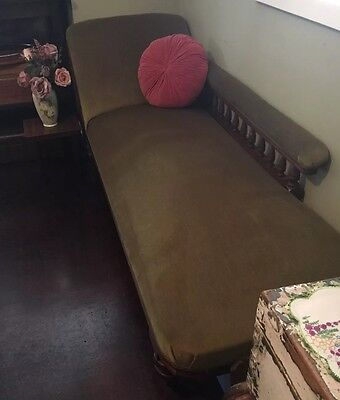 Antique Mahogany Chez Chaise Lounge Day Bed Edwardian? Victorian?