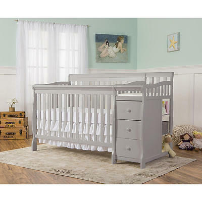 Dream On Me Brody 5-in-1 Convertible Crib with Changer - Pebble Grey