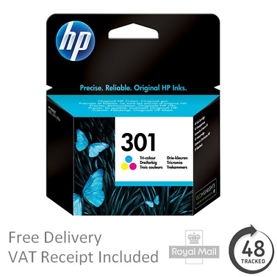 Original HP 301 Tri-Colour Ink Cartridge For HP Printers - 301