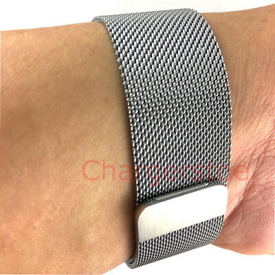 Original Genuine Apple Watch Milanese Loop band 42mm SILVER magnetic Wristband