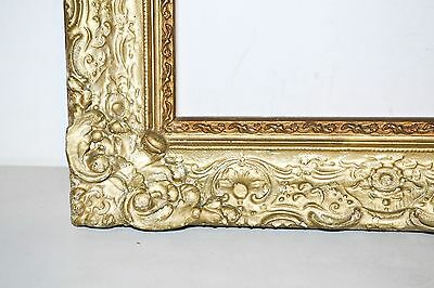 """antique ornate gold gilt gesso wood picture frame French Rococo   28"""" x 24"""""""