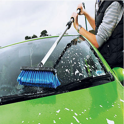 Vehicle Car Wash Brush Soft 60 Inch Telescoping Handle RV Flow-Thru Cleaning