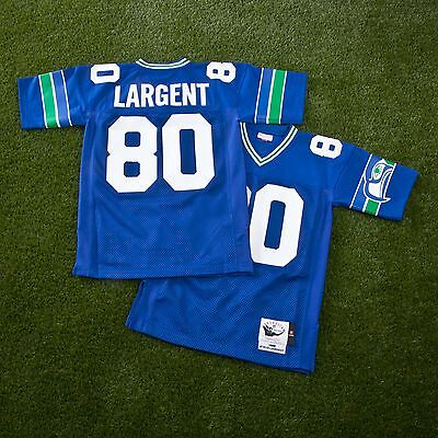 Adults Small Seattle Seahawks Steve Largent 1985 Authentic Jersey H473