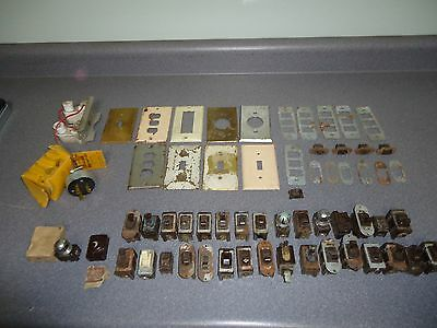 Large Lot of (61) Vintage Light Switch Outlet & Covers Switches Murdock Despard