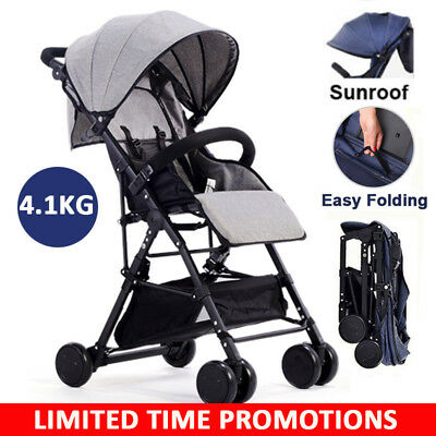 BABYCORE Lightweight Compact Fold Baby Stroller Pram Kids Pushchair Travel