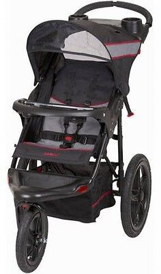 Jogger Stroller Expedition Fold Reclining Padded Seat Extra-large Storage Basket