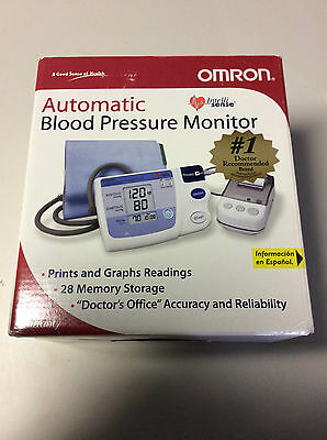 Omron HEM-705CP Blutdruckmessgerät Automatic Blood Pressure Monitor and Printer