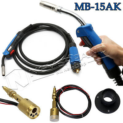 MB-15 4M 150A Complete Mig Mag CO2 Euro Welding Torch+ Central Connector Socket