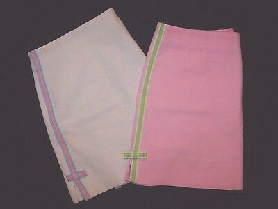 Lot 2 Lilly Pulitzer Women's Pink W/green Ribbon; White W/pink Ribbon Skirts 12