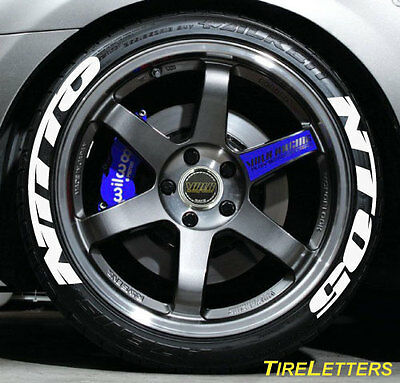 Nitto Tires With White Lettering >> Tire Letter Raised White Rubber Lettering 1 25 Inch Nitto Nt05 Swoosh Design