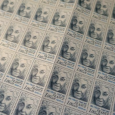 FEUILLE SHEET TIMBRE POÈTE MARIE NOEL N°1986 x50 1978 NEUF ** LUXE MNH